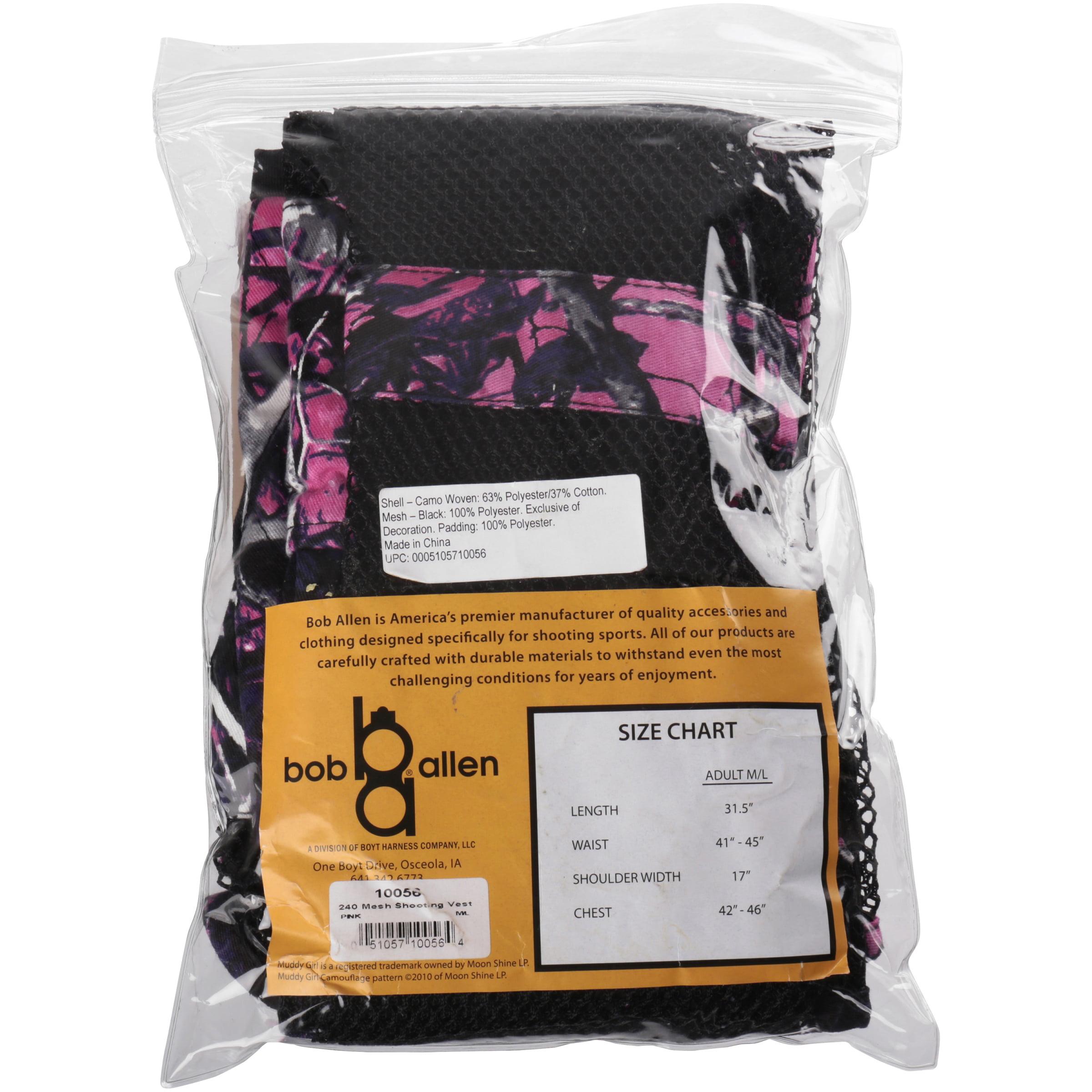 ddf07dad65527 The Outdoor Connection - Bob Allen® Muddy Girl Ladies M/L Full Mesh  Shooting Vest Pack - Walmart.com