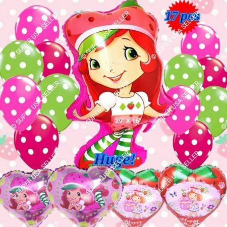 STRAWBERRY SHORTCAKE Balloons Game Girl Decor Shower Birthday Party Supply lot - Games For Birthday Parties