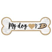 "Anaheim Ducks 6"" x 12"" Team Dog Bone Sign"