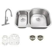 Schon SC567550 Double Basin Undermount Kitchen Sink Set