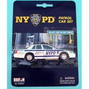 daron nypd police car set