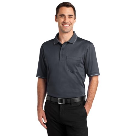 Cornerstone® Select Snag-Proof Tipped Pocket Polo. Cs415 Charcoal/ Light Grey Xs - image 1 of 1