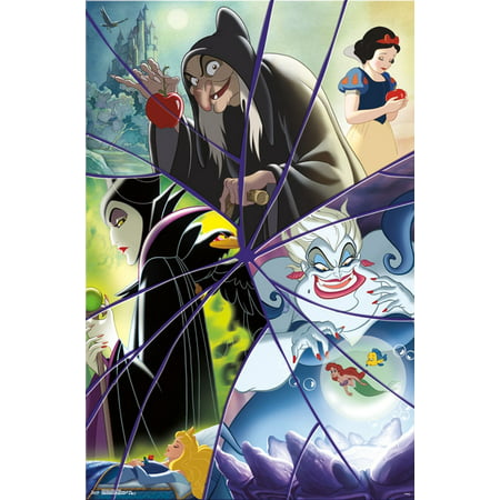 Disney Villains Collage Wall Poster 22.375