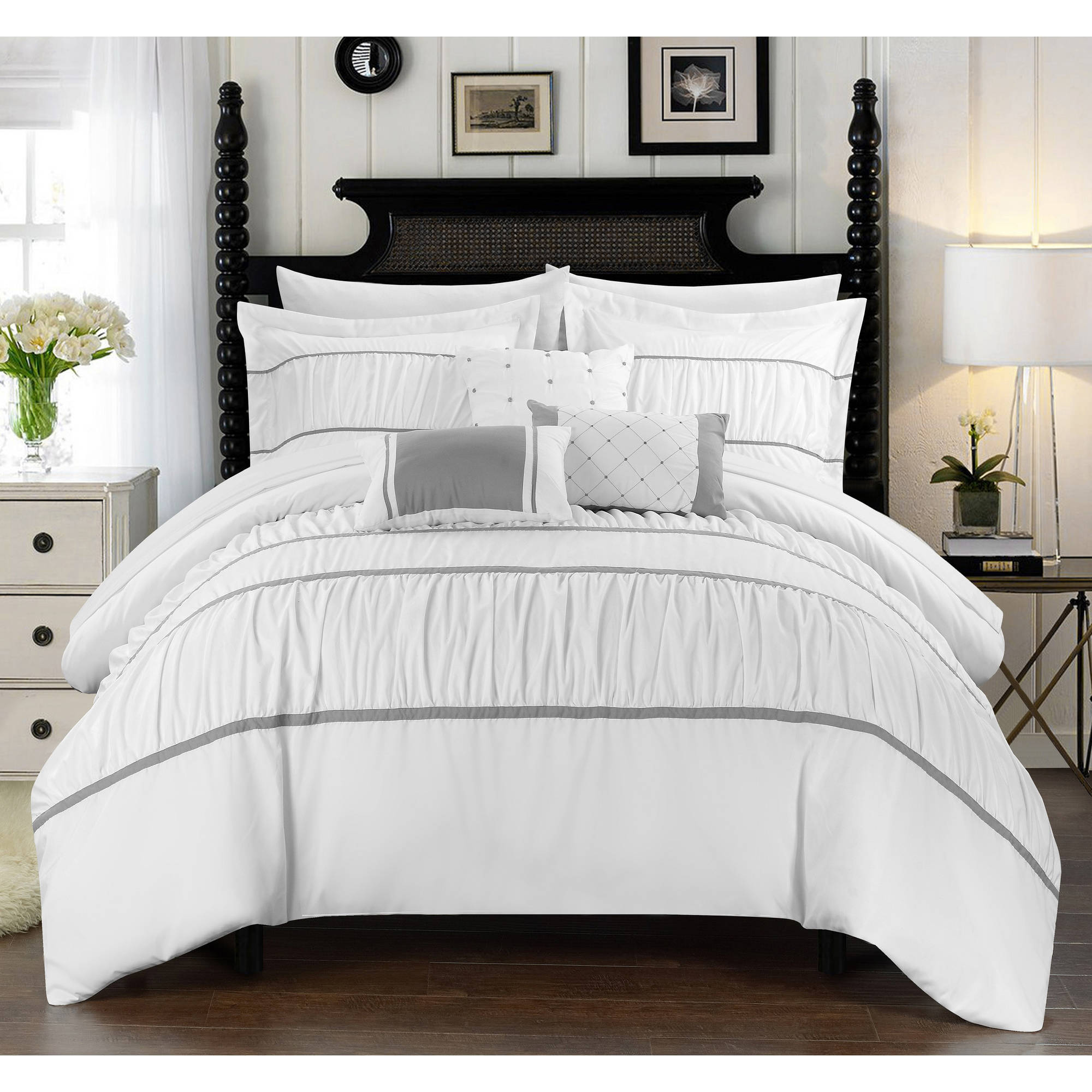 Chic home wanda 10 piece bed in a bag comforter set walmart com