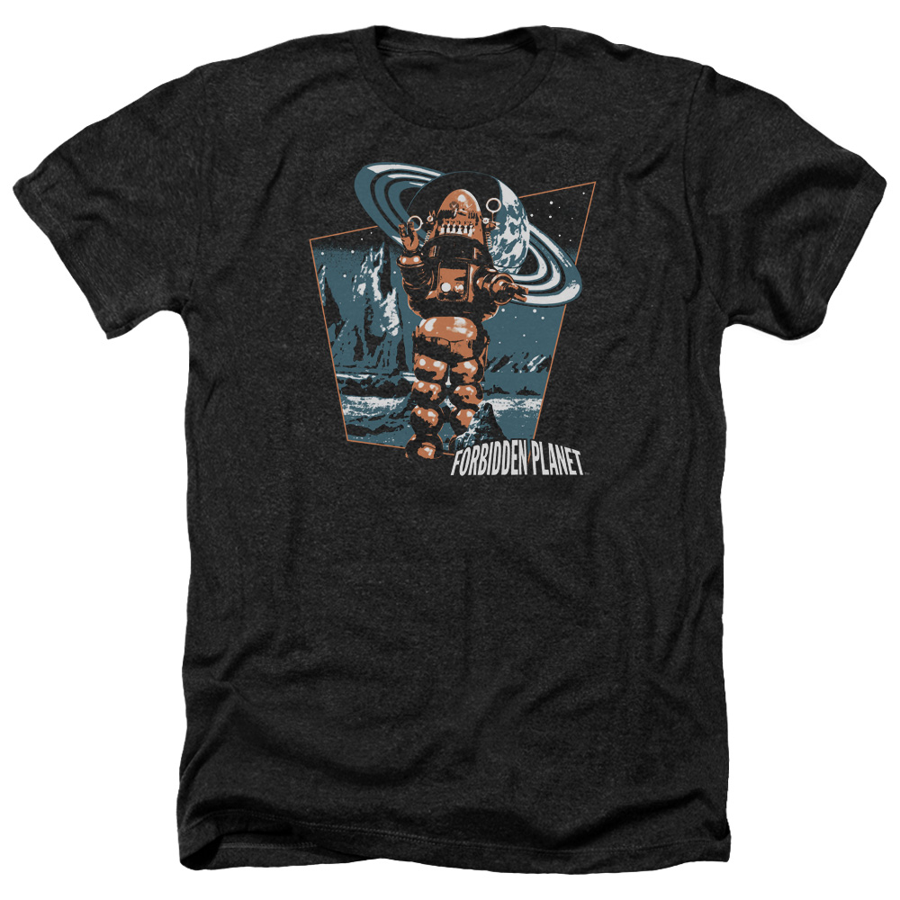 Forbidden Planet Robby Walks Mens Heather Shirt