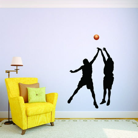 Custom Wall Decal Basketball Play Win Finals Playoffs Teen School Vinyl Wall 14x28