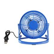 LIVEYOUNG Mini Size USB Fan Portable Super Mute PC USB Cooler Cooling Desk Mini Fan blue
