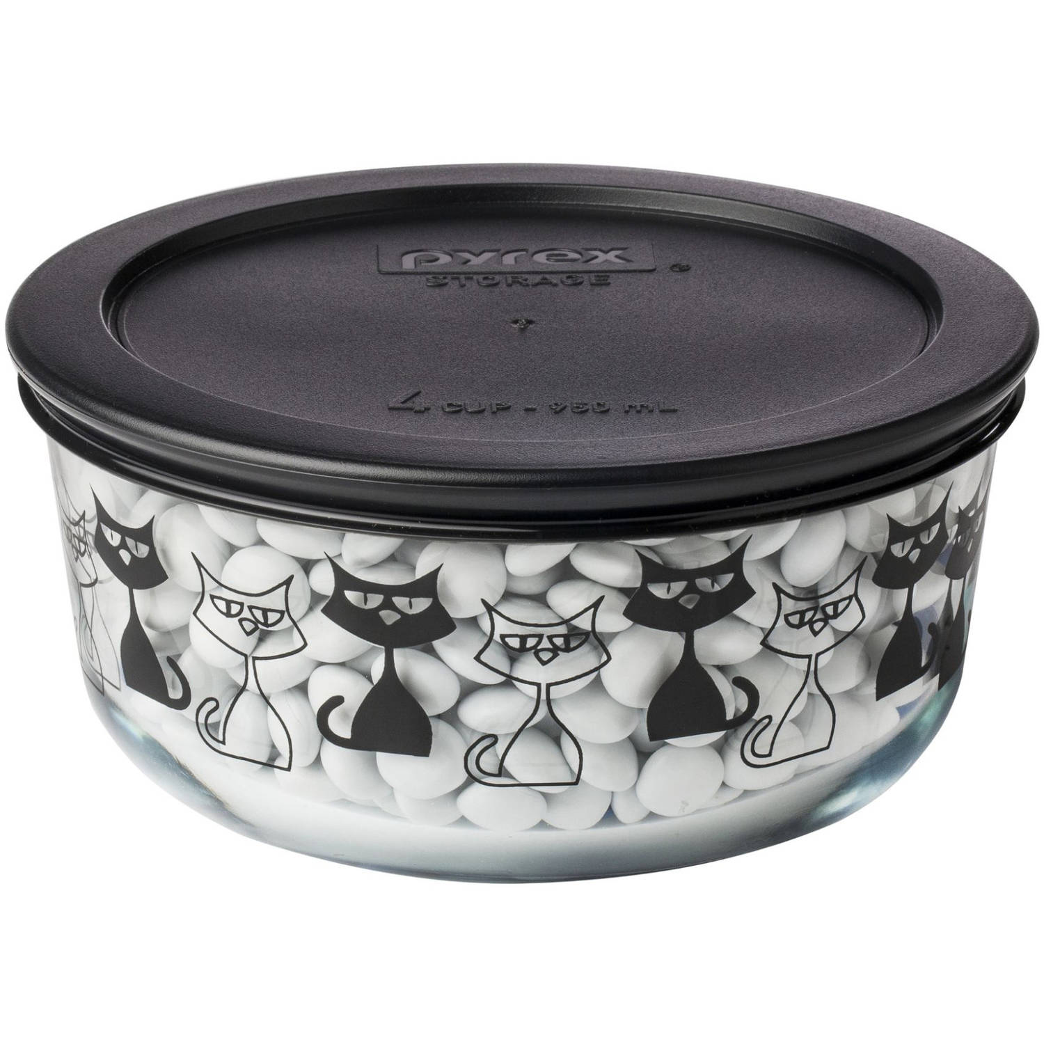 pyrex simply store halloween 4-cup round storage set with plastic
