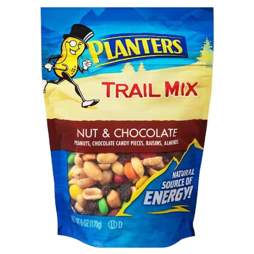 Planters Trail Mix, Nut & Chocolate 6 oz (Pack of 6)