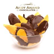 Andy Anand Belgian Chocolate Mango Slices Bridge, Amazing-Delicious-Decadent Gift Boxed & Greeting Card Birthday Valentine Christmas