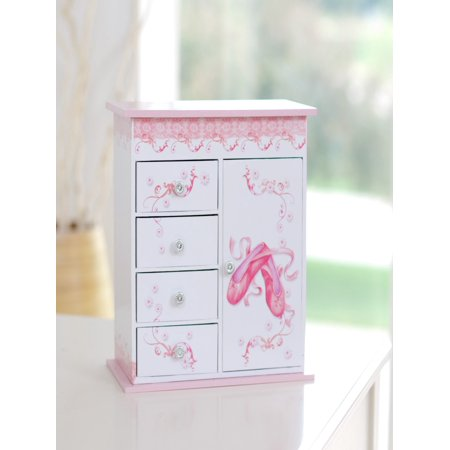 Mele & Co. Cristiana Ballerina Musical Jewelry Box - 9.25W x 8H in. - Little Girls Jewelry Boxes