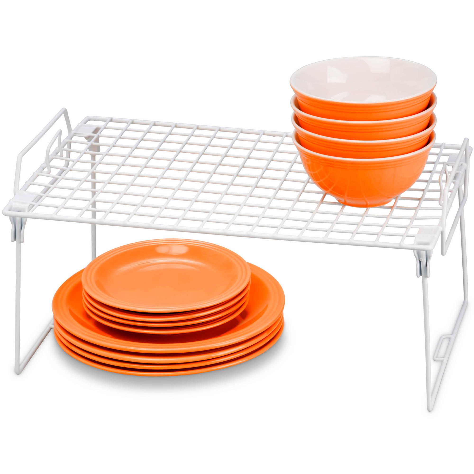 "Honey Can Do Stackable Kitchen Shelving Organizer Rack, 18"" x 12"""