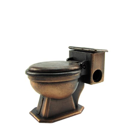 1:12 Scale Metal Toilet Dollhouse Miniature Accessory Die Cast Pencil Sharpener Dollhouse Bathroom Toilet