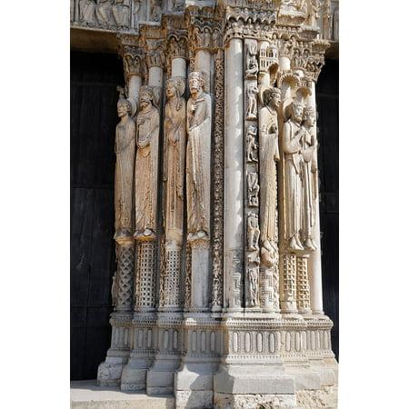 LAMINATED POSTER Portal Porch Chartres Apostles Cathedral Poster Print 24 x 36