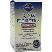 Garden of Life - RAW Probiotics Women - Acidophilus Live Cultures - Probiotic-Created Vitamins, Minerals, Enzymes and Prebiotics - Gluten Free - 90 Vegetarian Capsules