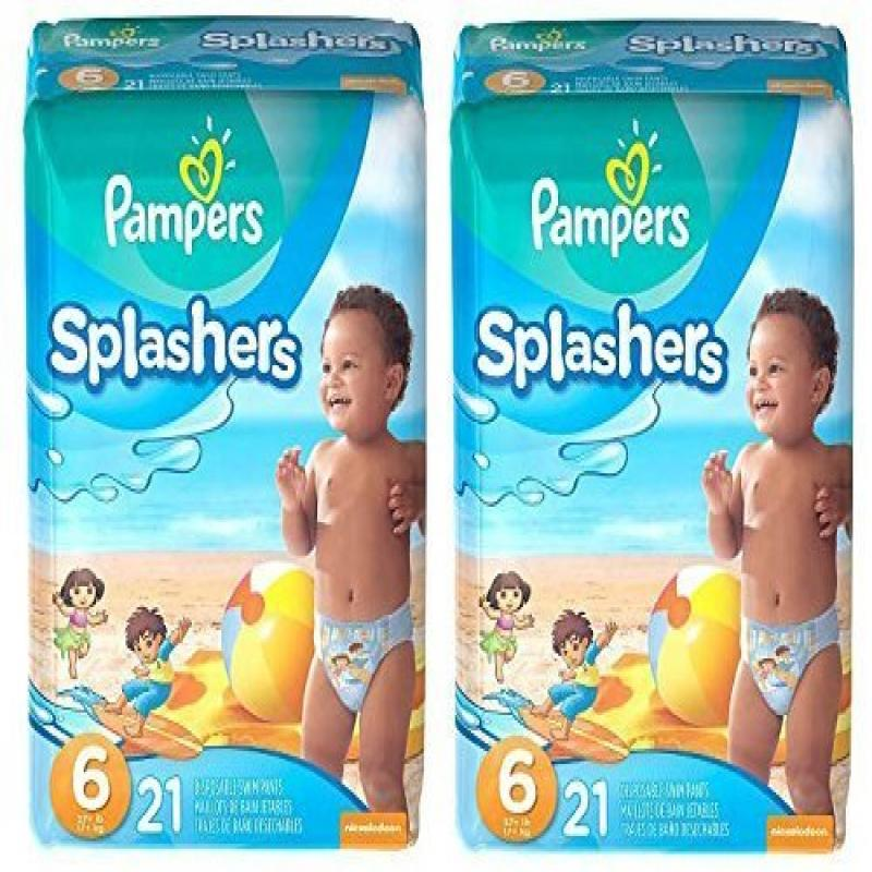 Annie Pampers Splashers Swim Pants (Size 6) - 2 Pack