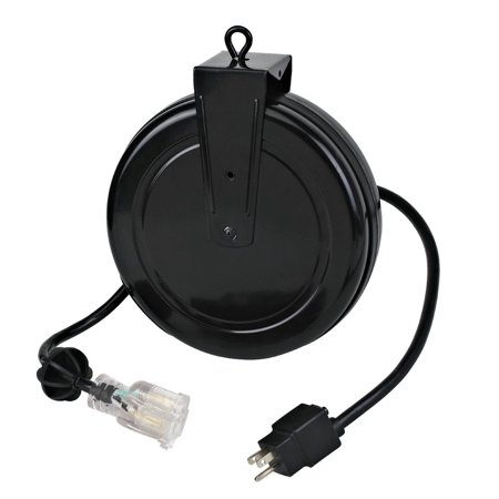 Retractable Extension Cord >> Alert Stamping 5020tfc 20 Retractable Extension Cord Reel With Single Outlet