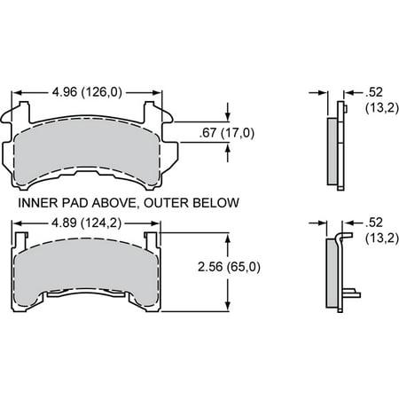 Wilwood 15014778K Jeu de plaquettes d'essieu GM-Metric D154-30 - image 1 de 1