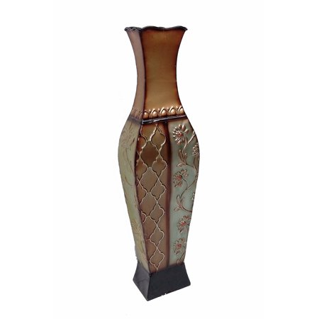 D'Lusso Designs 24 Inch Francesca Design Metal Floor Vase ()