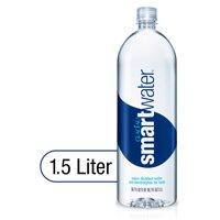smartwater vapor distilled premium water bottle, 1.5 Liters