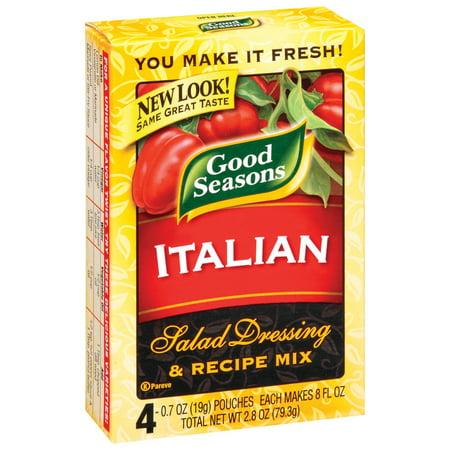 Good Seasons Dressing & Recipe Mix Italian, 4 count, 2.8 Oz