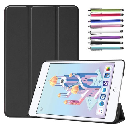 Epicgadget Case for iPad Mini 5 2019, Auto Wake/Sleep Slim Lightweight Folding Stand Cover Case for Apple iPad Mini 5th Gen 7.9 Inch Display (Black)