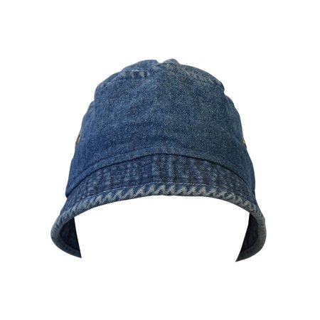KC Caps Unisex Youth Washed Cotton Fun Denim Bucket Hat for Boys Girls