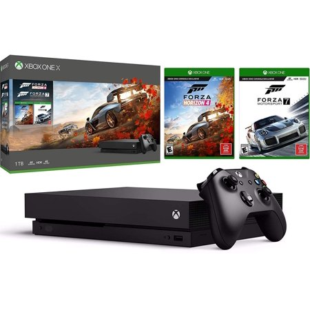 Microsoft Xbox One X Forza Horizon 4 and Motorsport 7 Bundle: Forza Horizon 4, Forza Motorsport 7, Xbox One X Console Native 4K HDR 1TB with Wireless