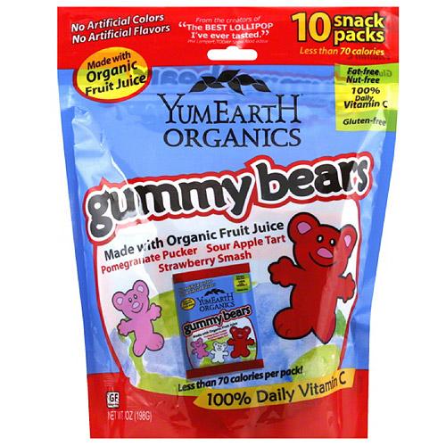 YumEarth Organics Gummy Bears, 7 oz, (Pack of 12)