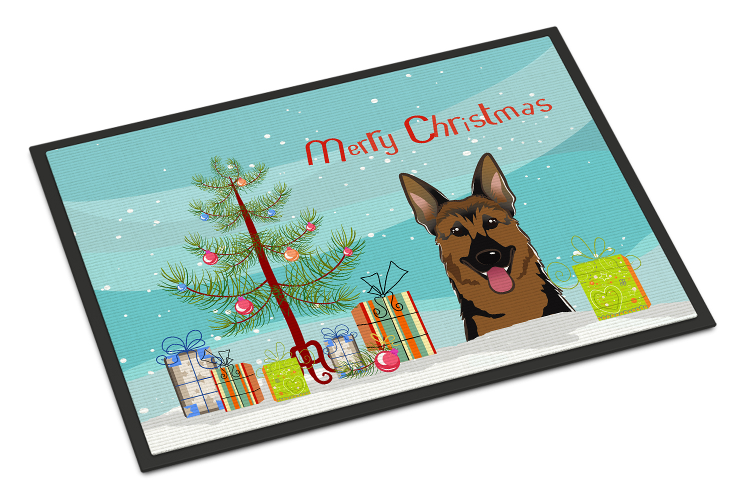 Christmas Tree And German Shepherd Door Mat Walmart