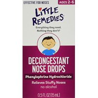 2 Pack - Little Noses Decongestant Nose Drops 0.5oz Each
