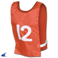 CHAMPRO Lacrosse Nylon Pinnies with Numbers 1-12 Orange