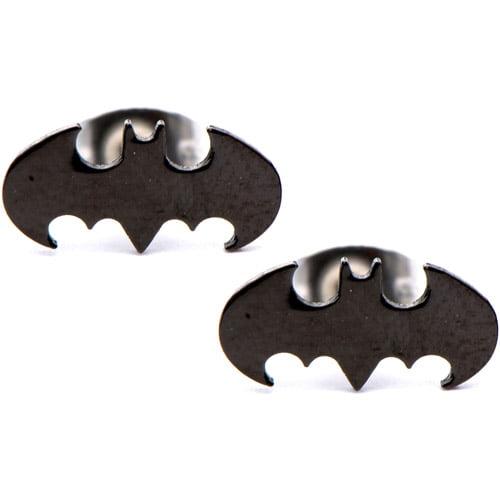batman steel stud earrings walmart