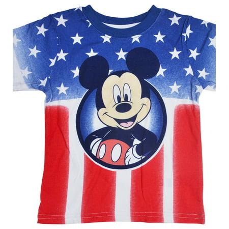 ab8f3054f Disney - Disney Mickey Mouse American USA Flag Baby Boys T-Shirt -  Walmart.com