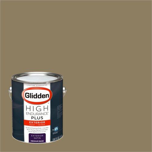 Glidden High Endurance Plus Exterior Paint and Primer, Dark Legacy Gold, #20YY 24/177