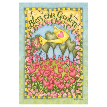 Toland Home Garden Bless this Garden Flag Enhance your garden with the charming Toland Home Garden Bless this Garden Flag. This machine-washable polyester flag hangs from a flagpole, arbor, or stand in your choice of available sizes. Toland Home Garden