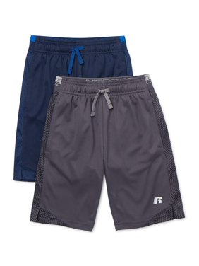 Russell Boys 4-18 Solid Active Shorts, 2-pack