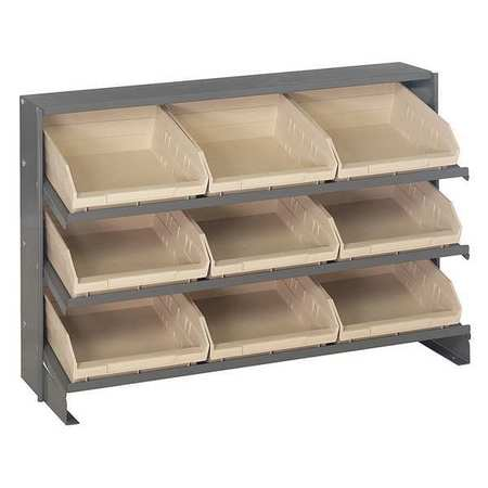 Sloped Shelving System,12Dx36Wx23H,Ivory QUANTUM STORAGE SYSTEMS QPRHA-109IV