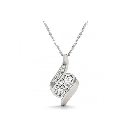 halo chain h p pendant i s womens double necklace white gold round tdw diamond