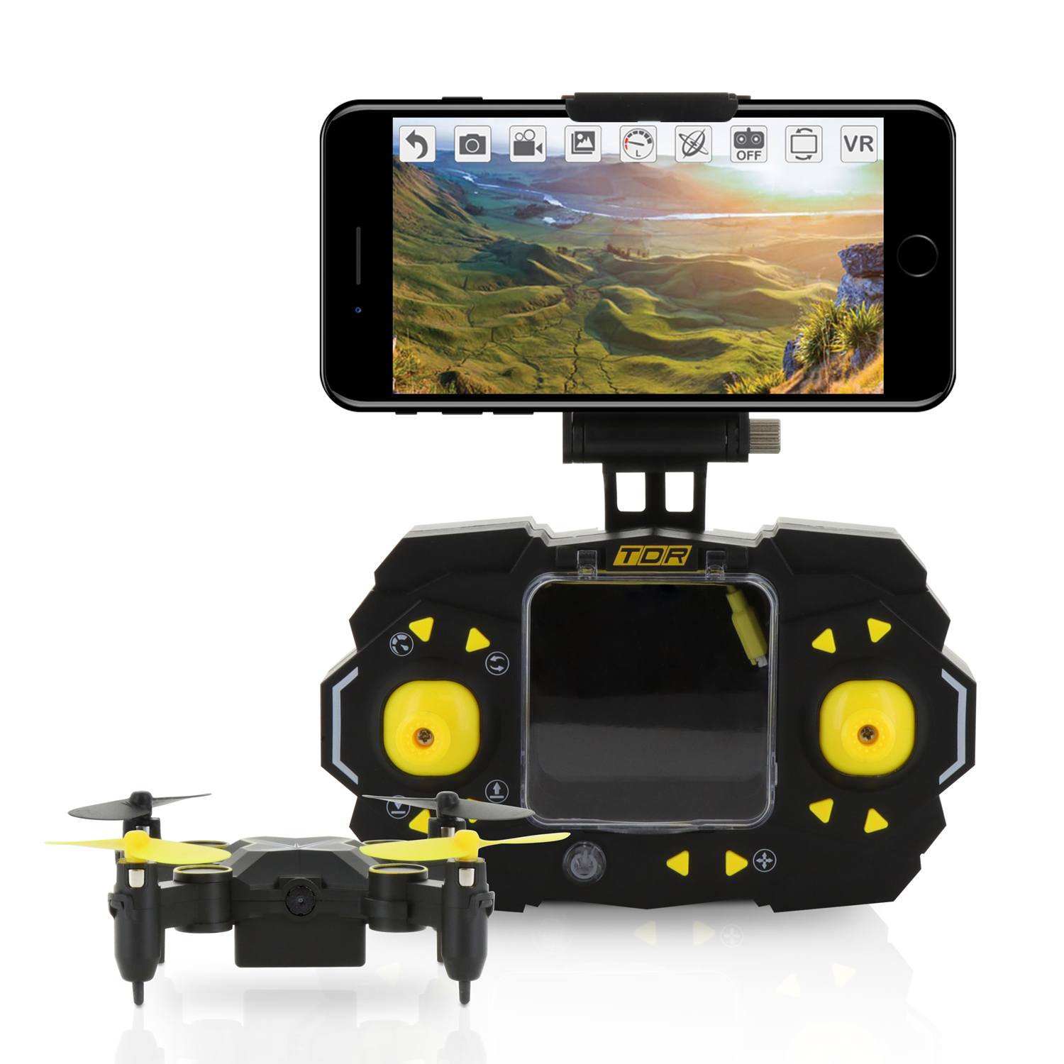 TDR Sky Beetle Stunt RC Camera FPV Quadcopter Drone w/ Docking Transmitter Auto Hovering WiFi App Control