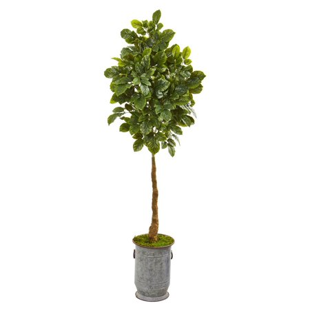Copper Metal Tree (Nearly Natural 6? Beech Leaf Artificial Tree in Metal Planter with Copper)