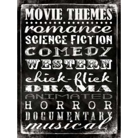 Movie Themes Poster Print by Stephanie Marrott