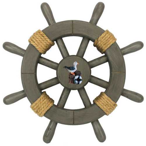 Handcrafted Nautical Decor Decorative Ship Wheel With Seagull Wall D cor