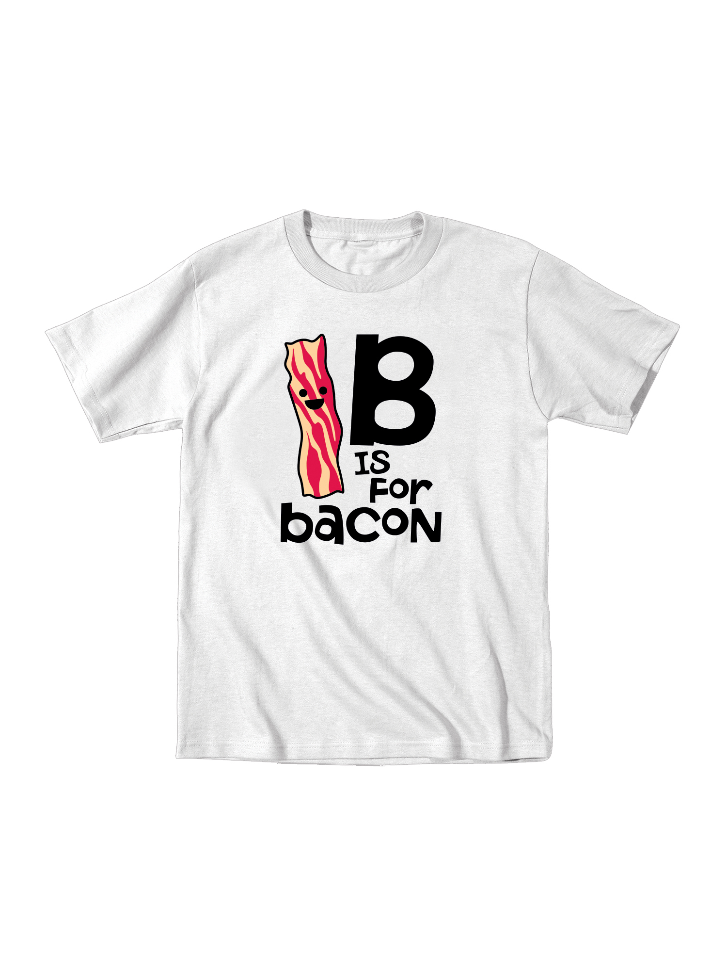 B Is For Bacon Funny Food Alphabet ABCs Baby-Toddler T-Shirt