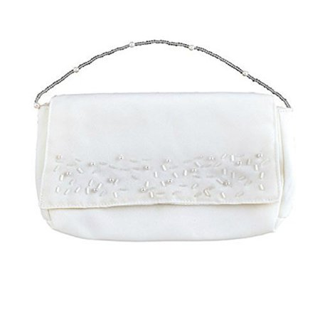 First Communion Clutch Purse with Bead Embellishments