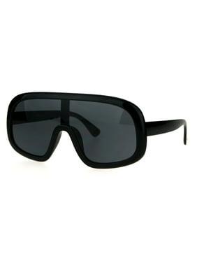 19939715fa1 Product Image Oversized Futurism Robotic Shield Sport Racer Plastic  Sunglasses All Black