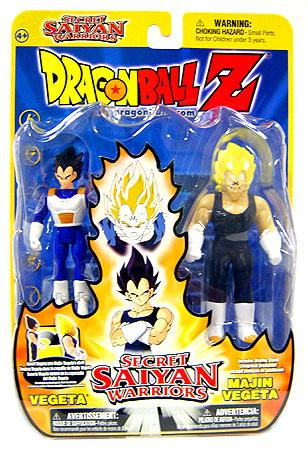 Dragon Ball Z Secret Saiyan Warriors Vegeta & Majin Vegeta Action Figure 2-Pack by