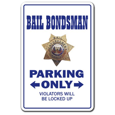 BAIL BONDSMAN Decal parking Decals bond bounty hunter prison jail | Indoor/Outdoor | 5