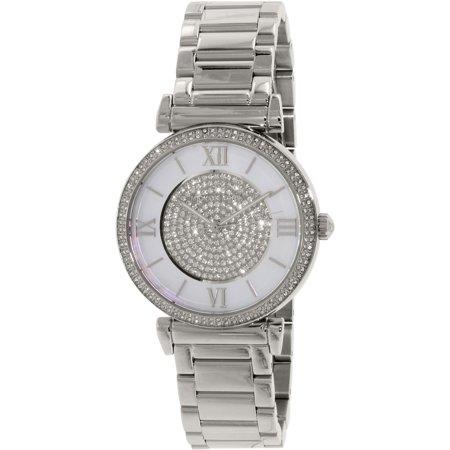 9040805a9622 Michael Kors - Women s Catlin MK3355 Silver Stainless-Steel Quartz Watch -  Walmart.com