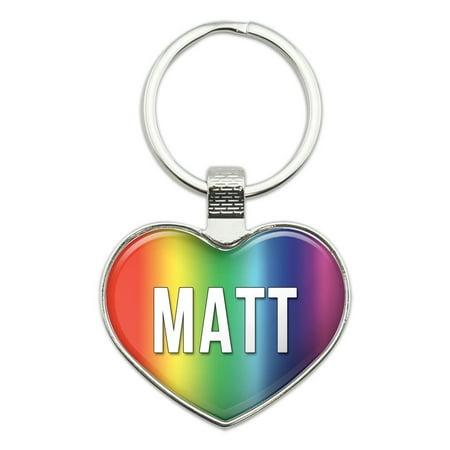 I Love Matt Heart Metal Key Chain